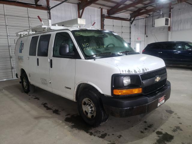 Salvage trucks for sale at Lexington, KY auction: 2006 Chevrolet Express G2