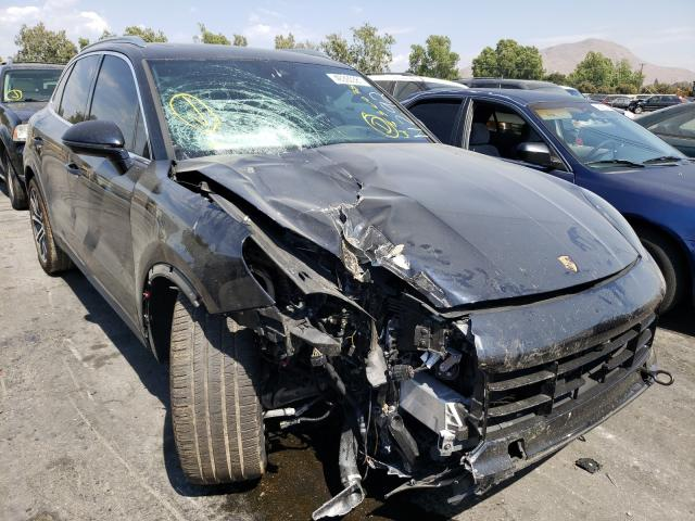 Salvage cars for sale from Copart Colton, CA: 2020 Porsche Cayenne TU