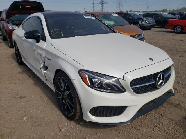 Salvage cars for sale from Copart Elgin, IL: 2017 Mercedes-Benz C 43 4matic