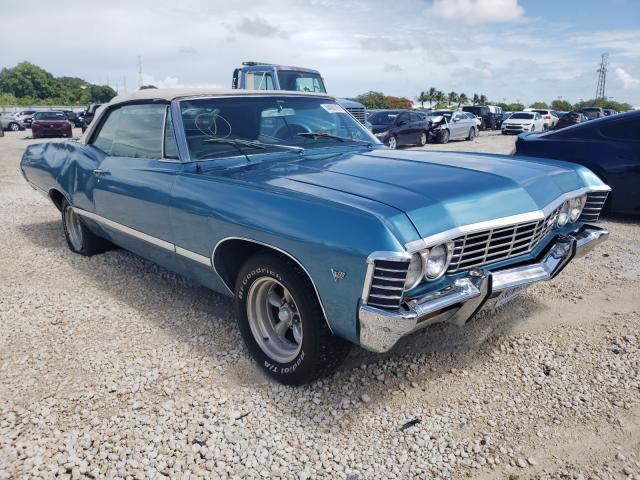 Carros salvage clásicos a la venta en subasta: 1967 Chevrolet Impala