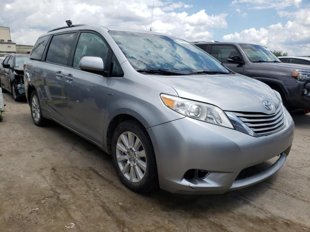 Salvage cars for sale from Copart Tulsa, OK: 2017 Toyota Sienna LE