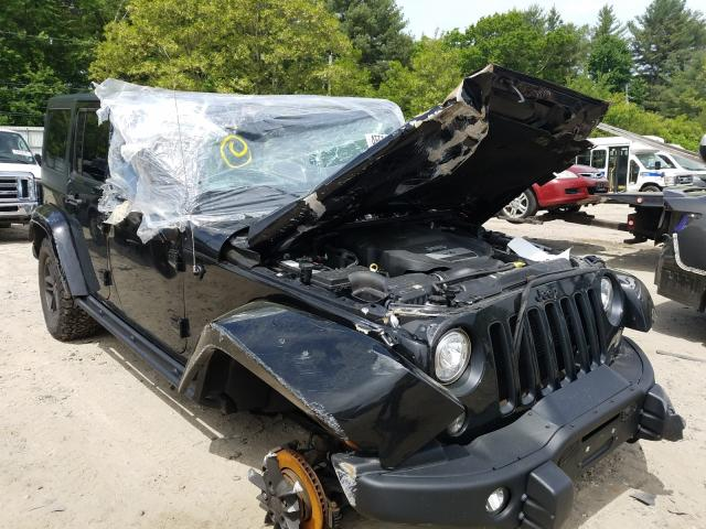 Salvage cars for sale from Copart Mendon, MA: 2017 Jeep Wrangler U