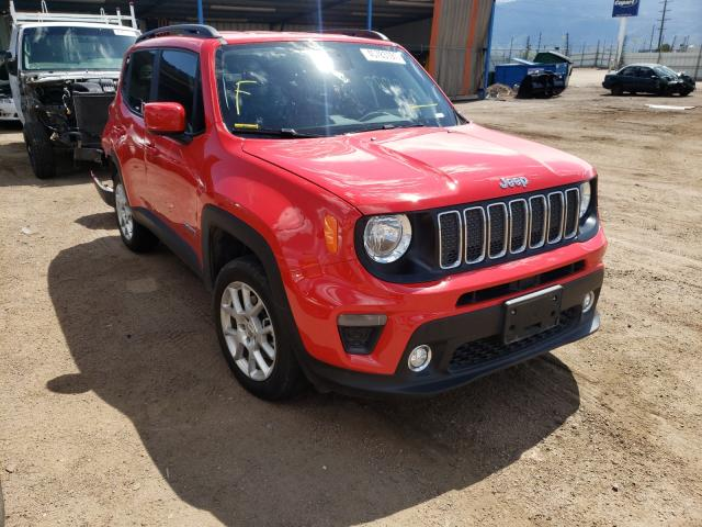 Salvage cars for sale from Copart Colorado Springs, CO: 2019 Jeep Renegade L