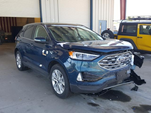 Salvage cars for sale from Copart Billings, MT: 2020 Ford Edge Titanium