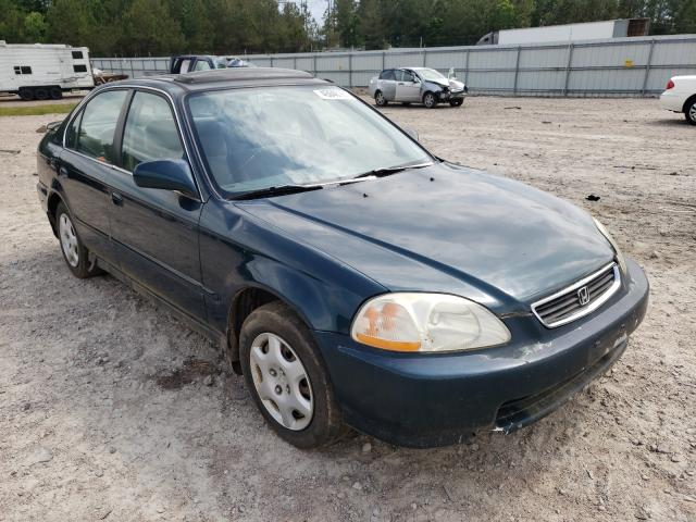 Salvage cars for sale from Copart Charles City, VA: 1998 Honda Civic EX