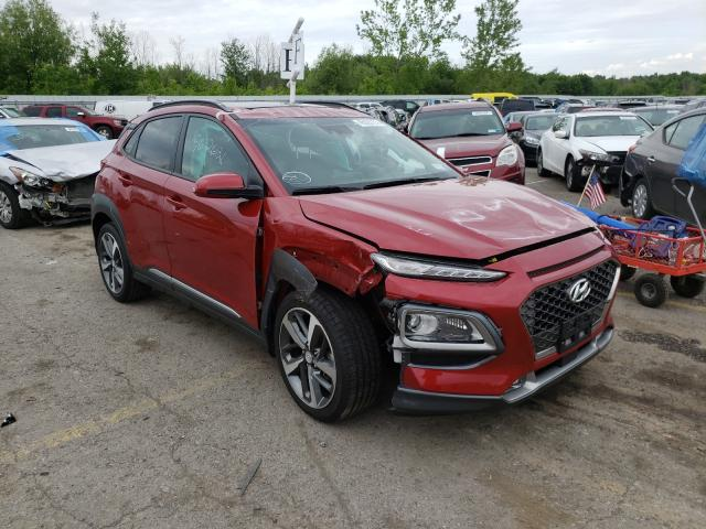Salvage cars for sale from Copart Angola, NY: 2019 Hyundai Kona Ultim