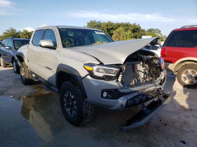 Salvage cars for sale from Copart Punta Gorda, FL: 2021 Toyota Tacoma DOU