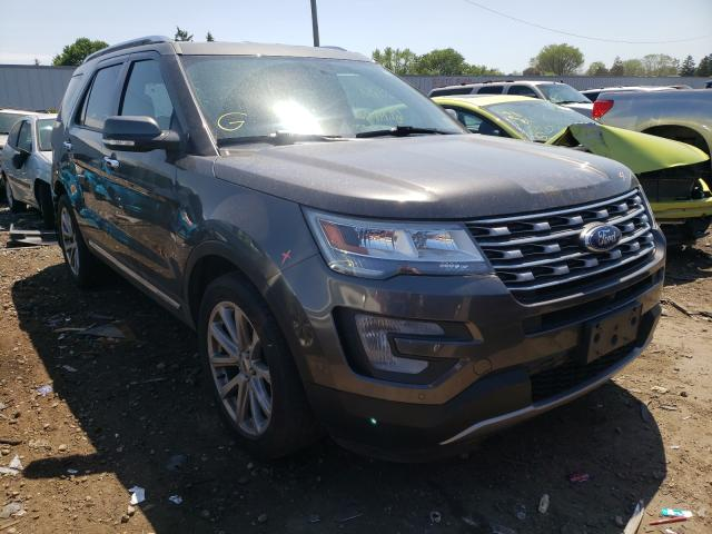 Salvage cars for sale from Copart Cudahy, WI: 2017 Ford Explorer L