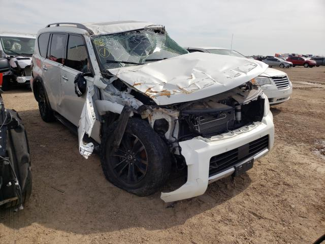 Salvage cars for sale from Copart Amarillo, TX: 2018 Nissan Armada PLA