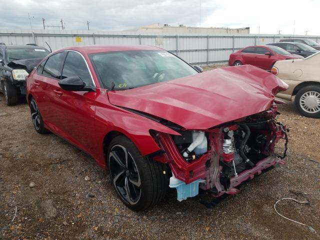 Salvage cars for sale from Copart Mercedes, TX: 2021 Honda Accord Sport