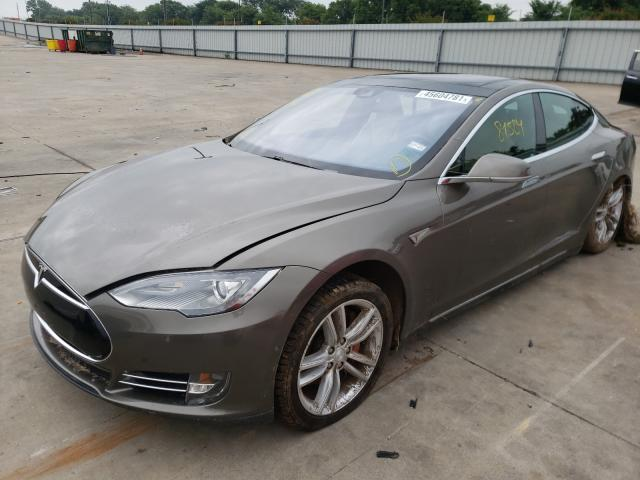 Salvage cars for sale from Copart Wilmer, TX: 2015 Tesla Model S P8