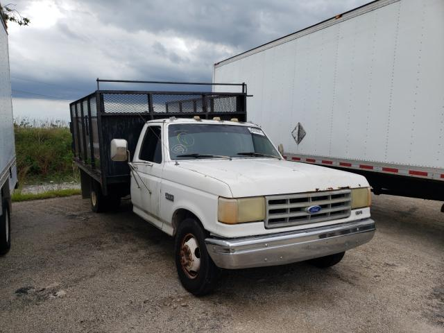 Salvage trucks for sale at West Palm Beach, FL auction: 1989 Ford F350