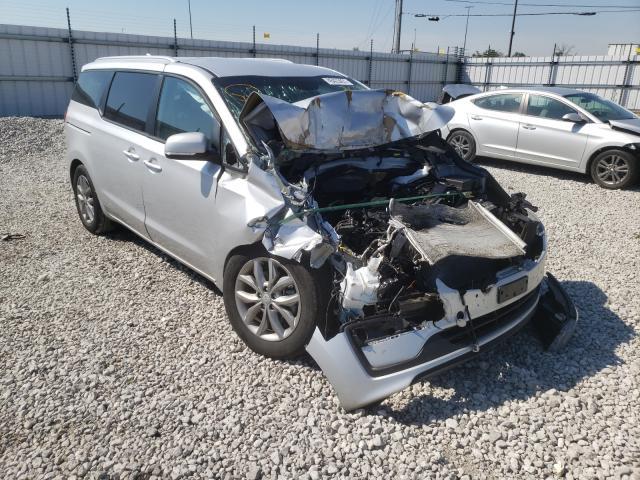 Salvage cars for sale from Copart Alorton, IL: 2021 KIA Sedona LX