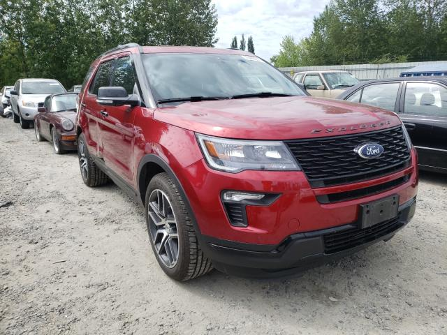 Salvage cars for sale from Copart Arlington, WA: 2018 Ford Explorer S