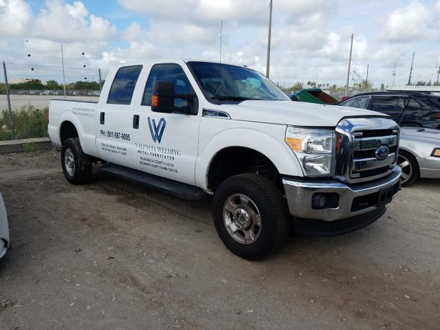 Salvage cars for sale from Copart West Palm Beach, FL: 2016 Ford F250 Super