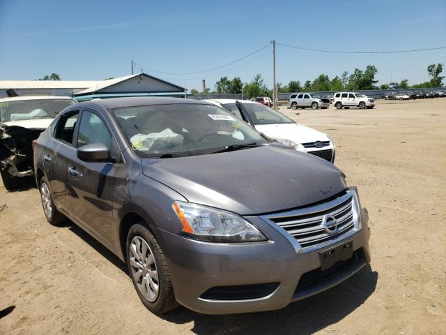 Salvage cars for sale from Copart Pekin, IL: 2015 Nissan Sentra S