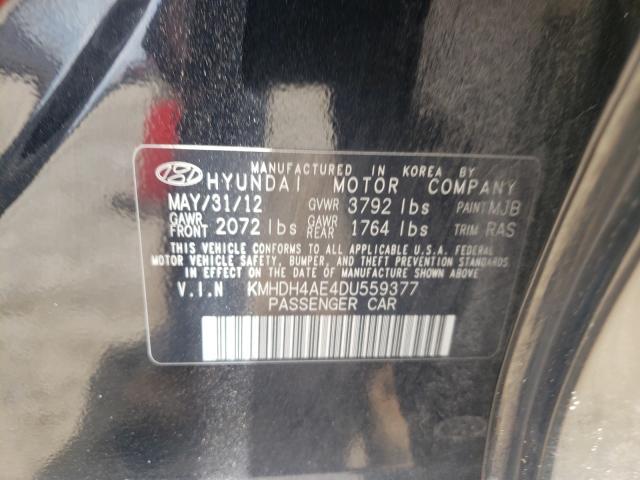 2013 HYUNDAI ELANTRA GL KMHDH4AE4DU559377