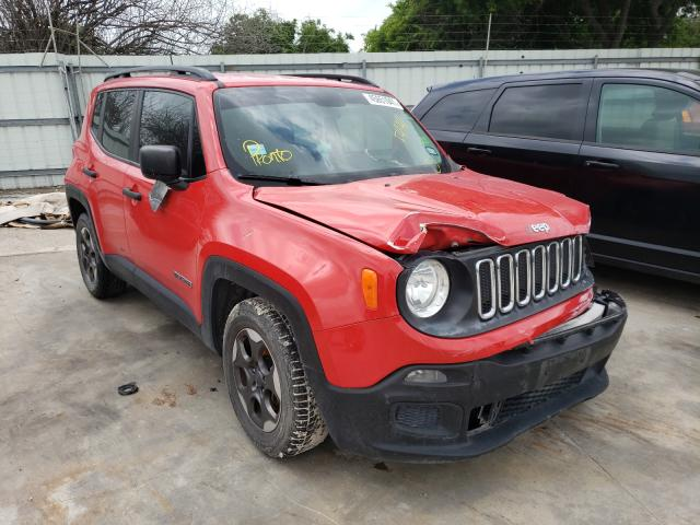 Salvage cars for sale from Copart Corpus Christi, TX: 2017 Jeep Renegade S