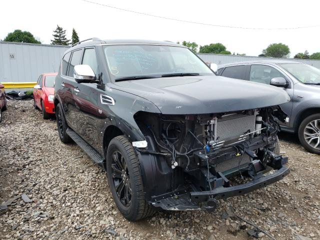 Salvage cars for sale from Copart Cudahy, WI: 2019 Nissan Armada PLA