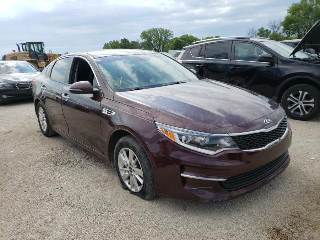 Salvage cars for sale from Copart Milwaukee, WI: 2017 KIA Optima LX