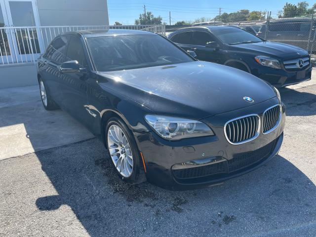 Salvage cars for sale at Miami, FL auction: 2015 BMW 740 LI