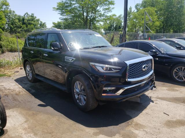 Salvage cars for sale from Copart Marlboro, NY: 2019 Infiniti QX80 Luxe