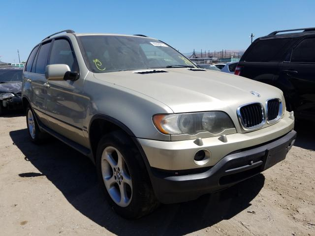 Salvage cars for sale from Copart San Martin, CA: 2001 BMW X5 3.0I
