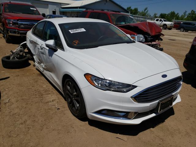 Salvage cars for sale from Copart Pekin, IL: 2018 Ford Fusion SE