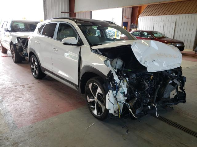 Salvage cars for sale from Copart Angola, NY: 2018 Hyundai Tucson VAL