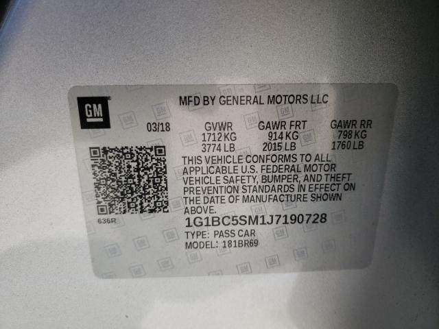 2018 CHEVROLET CRUZE LS 1G1BC5SM1J7190728