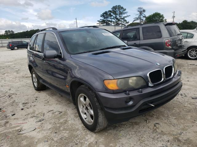 Salvage cars for sale from Copart Loganville, GA: 2002 BMW X5 4.4I