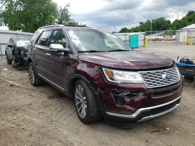 Salvage cars for sale from Copart West Mifflin, PA: 2018 Ford Explorer P
