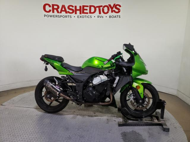 Salvage cars for sale from Copart Dallas, TX: 2012 Kawasaki EX250 J