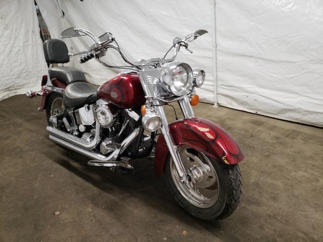 Salvage motorcycles for sale at Windsor, NJ auction: 1991 Harley-Davidson Flstc
