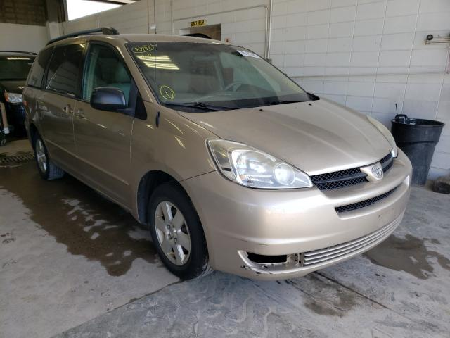 Salvage cars for sale from Copart Blaine, MN: 2005 Toyota Sienna CE