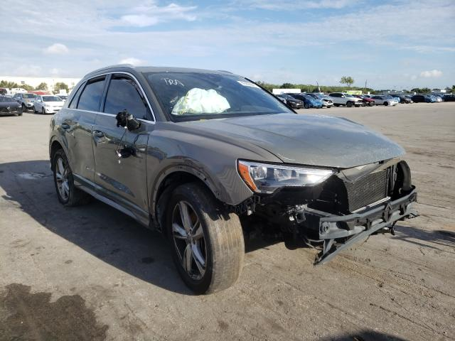 Salvage cars for sale from Copart Orlando, FL: 2020 Audi Q3 Premium