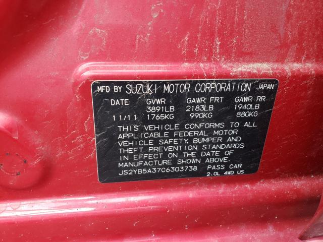 2012 SUZUKI SX4 JS2YB5A37C6303738