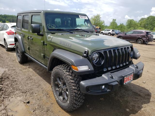 Salvage cars for sale from Copart Columbia Station, OH: 2021 Jeep Wrangler U