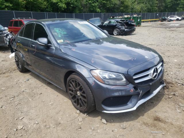 Salvage cars for sale from Copart Waldorf, MD: 2015 Mercedes-Benz C 300 4matic