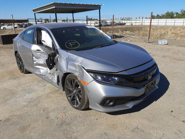 Salvage cars for sale from Copart Fresno, CA: 2019 Honda Civic Sport