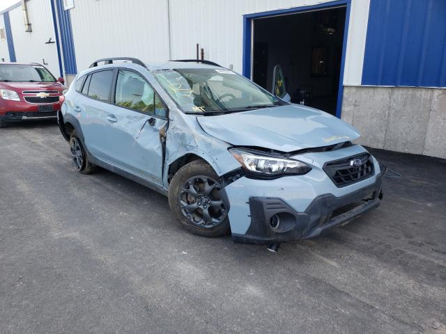Salvage cars for sale from Copart Atlantic Canada Auction, NB: 2021 Subaru Crosstrek