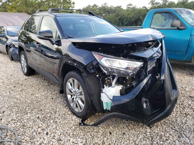 Salvage cars for sale from Copart Houston, TX: 2021 Toyota Rav4 XLE P