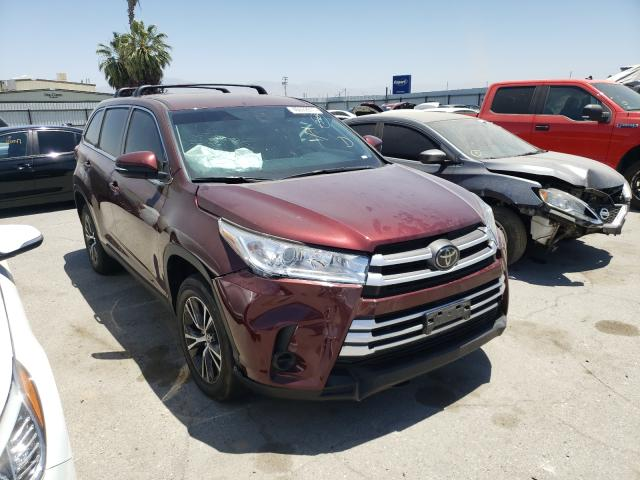 Salvage cars for sale from Copart Bakersfield, CA: 2019 Toyota Highlander