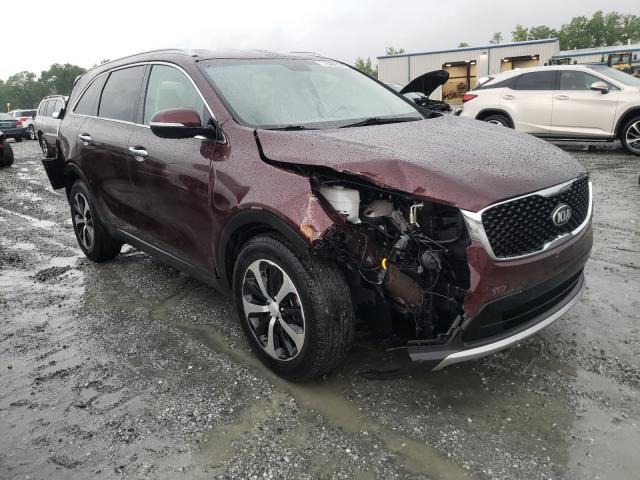 Salvage cars for sale from Copart Spartanburg, SC: 2016 KIA Sorento EX
