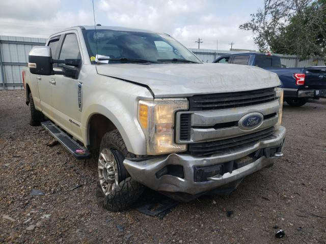 Salvage cars for sale from Copart Mercedes, TX: 2017 Ford F250 Super