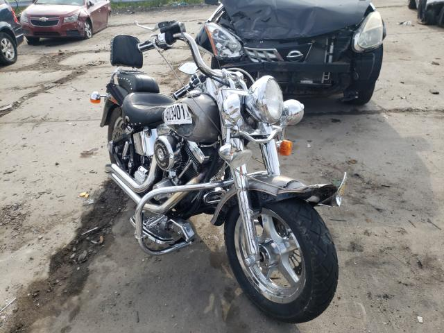 Salvage cars for sale from Copart Woodhaven, MI: 1997 Harley-Davidson Flstf