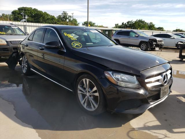 Salvage cars for sale from Copart Wilmer, TX: 2017 Mercedes-Benz C300