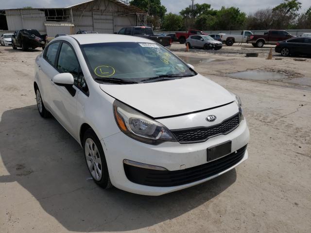 Salvage cars for sale from Copart Corpus Christi, TX: 2016 KIA Rio LX