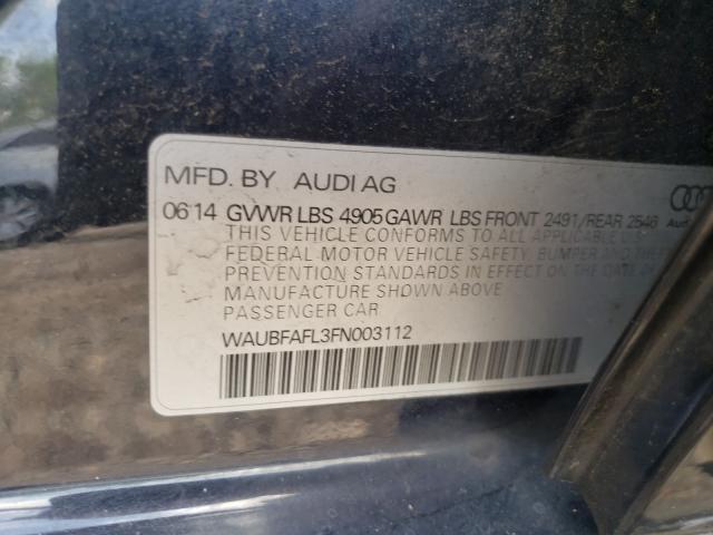 2015 AUDI A4 PREMIUM WAUBFAFL3FN003112