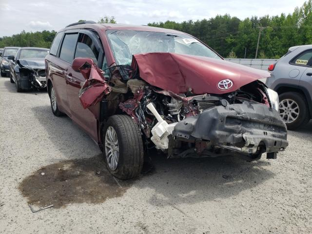 Salvage cars for sale from Copart Fredericksburg, VA: 2016 Toyota Sienna XLE